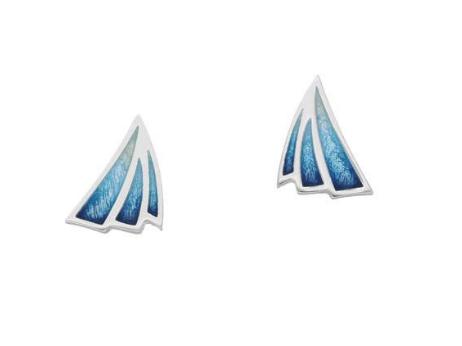 ORTAK silver stud earrings with enamel_waterfall_EE474_2.2