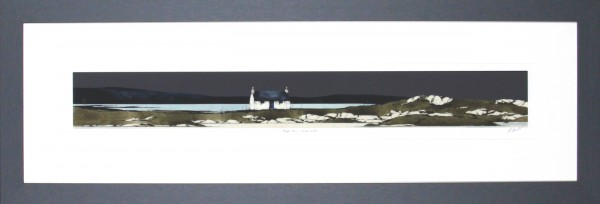 Ron Lawson_Signed Limited Edition Print_ Bhag Mhor, North Uist_image 3.75x29.75_Framed 13.75x39.5