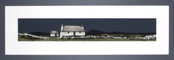 Ron Lawson_Signed Limited Edition Print_ Cairinis, North Uist_image 6x35.5_Framed 16x45.5