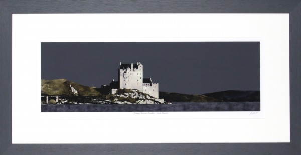 Ron Lawson_Signed Limited Edition Print_ Eilean Donan Castle, Loch Duich_image 8x24.5_Framed 18x34.5