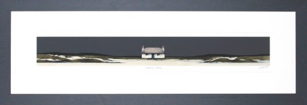Ron Lawson_Signed Limited Edition Print_ Thatched Cottage_image 3.75x29.75_Framed 13.75x39.5