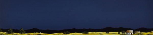 John Russell_Moonlit Sheep_Acrylics_12x48