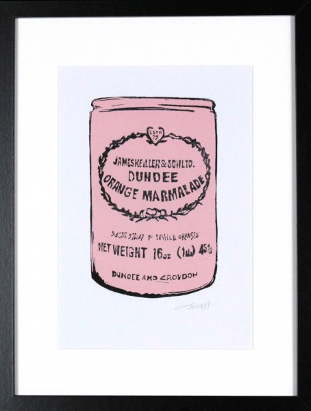 Laura Nicoll_SIgned Digital Print_Keiller's Marmalade Pink_image 11.5x8_Framed 12.75 (1)