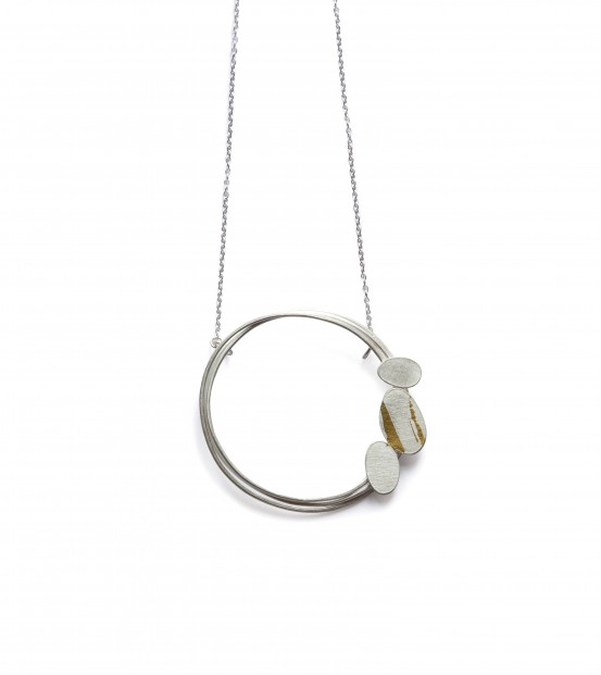 SIlver and Keumboo Oval Petal Circle Pendant_Alison Phillips_1.20_125_18inch