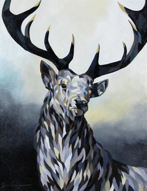 Simon Wright_The Monarch II_Acrylics_27.5x21.5_42.25x36.25
