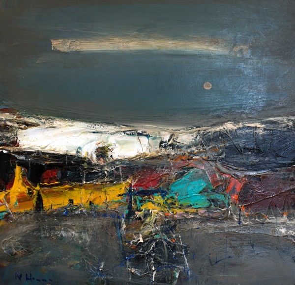Nael Hanna_East Coast Evening, Fife_Mixed Media_20x20