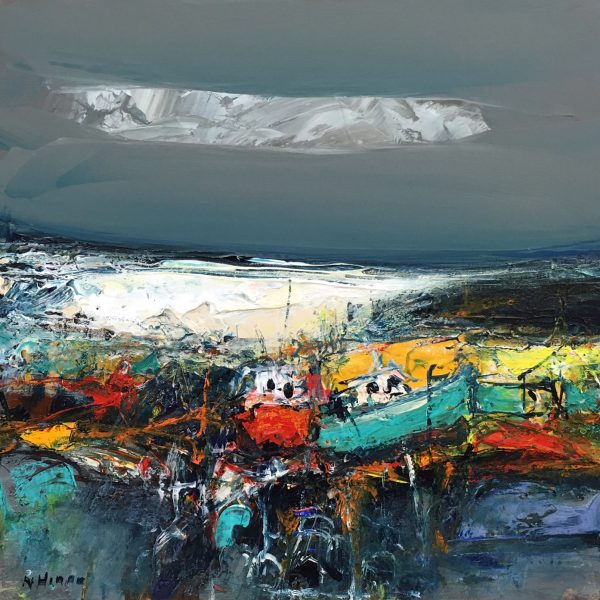 Nael Hanna_East Neuk Boats_Mixed Media_20x20