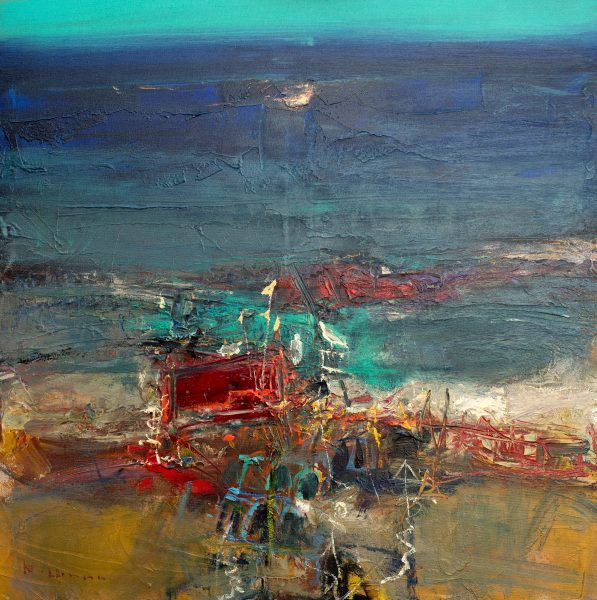 Nael Hanna_Fife Shore _Mixed Media_39x39