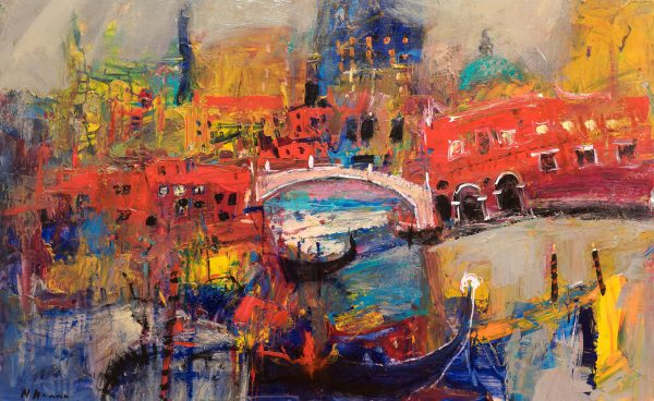 Nael Hanna_Gondola Venice_Mixed Media_30x40