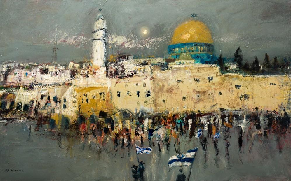 Nael Hanna_Jerusalem Now_Mixed Media_40x48
