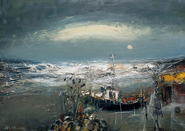 Nael Hanna_Rough Seas, East Neuk_Mixed Media_20x30