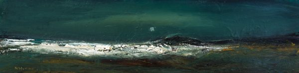 Nael Hanna_Summer Night, Anstruther_Mixed Media_9x39