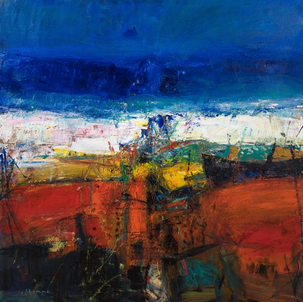 Nael Hanna_Summer Shore, East Haven_Mixed Media_39x39