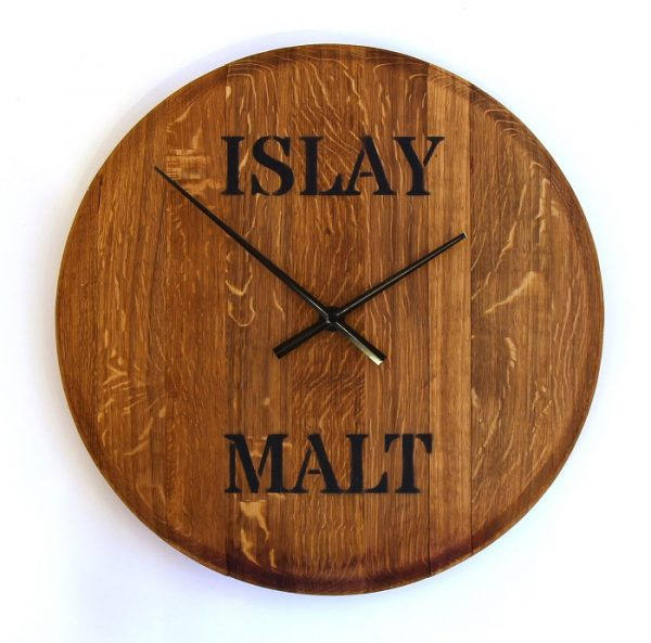 Chris Hodgson_Whisky Barrel Top Clock_Islay Malt_23x23_£159 (2)
