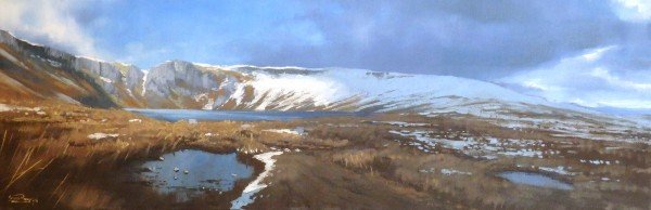 George Noakes_Snow Melt, Loch Brandy_Oils_8x24