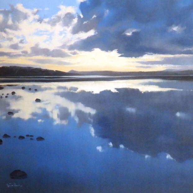 George Noakes_Still Water Tay Estuary_Oils_20x20