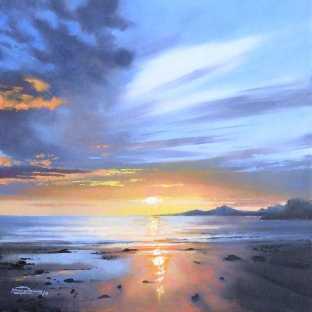 George Noakes_Sunset Over Dundee III_Oils_12x12