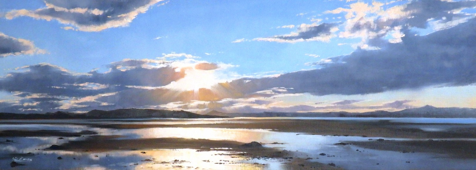George Noakes_Sunset Over Dundee I_Oils_12x31