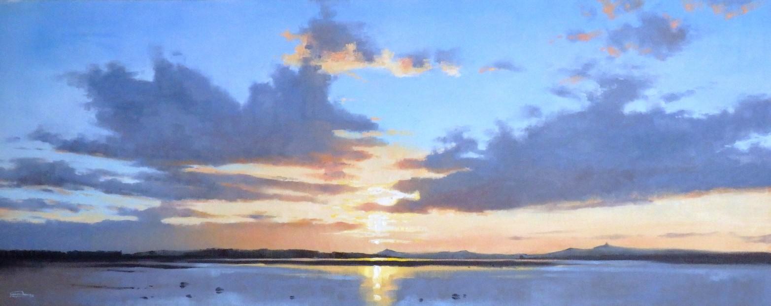 George Noakes_Sunset Over Dundee VII_Oils_16x40
