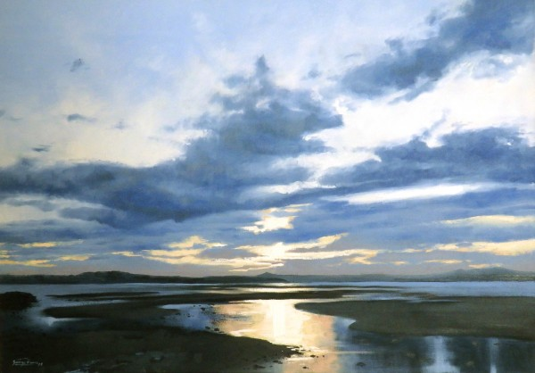 George Noakes_Sunset Over Dundee VI_Oils_20x28