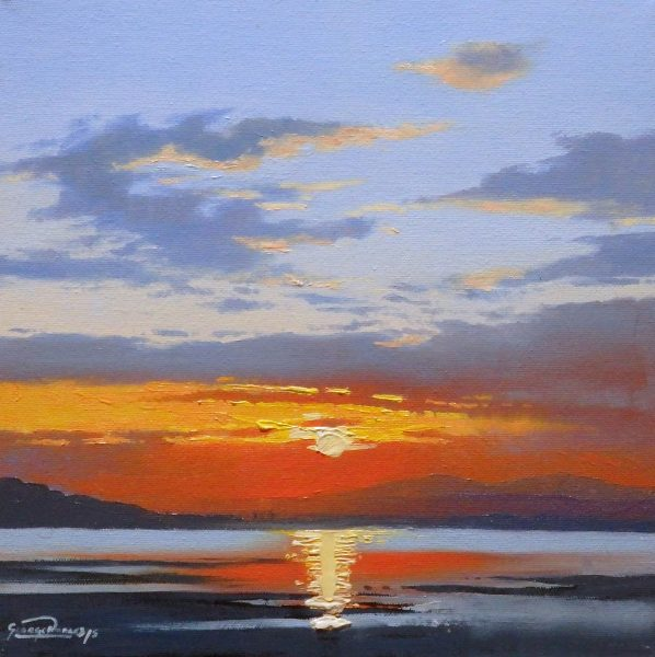 George Noakes_Sunset Study I_Oils_12x12