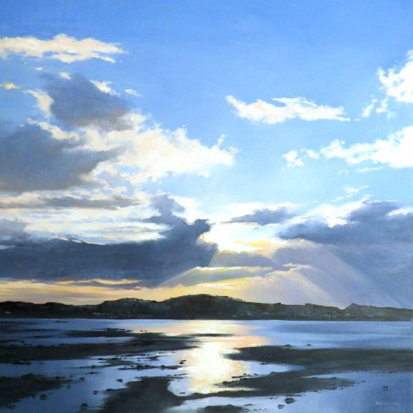 George Noakes_Towards Tayport I_Oils_30x30