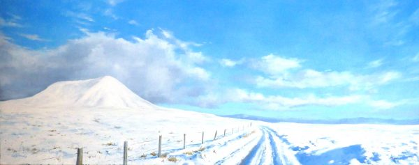 George Noakes_Winter Cairn Liath_Oils_16x40