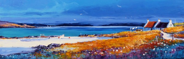 Jean Feeney_Morning Sails off the Isle of Barra_Oils_12x36