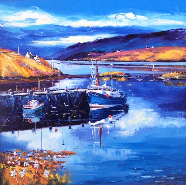 Jean Feeney_Newton Harbour, Isle of Scalpay, South Harris_Oils_24x24