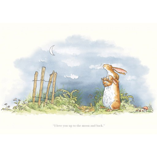 Anita Jeram_I Love You Up to the Moon and Back_Signed Limited Edition_12x15_mtd199