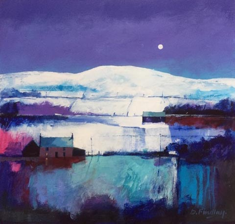 Dugald Findlay_MOONLIGHT BLUES (mixed media) image size 20x19