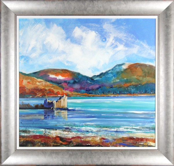 Dugald Findlay_Original_Oils_Kilchurn Castle, Loch Awe_Framed_45 x 43_Img_36 x 34