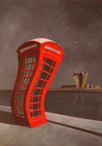 Gail Stirling Robertson_Original_Acrylics_Rosty Phone Box_image 7x 7_price 270 _sm