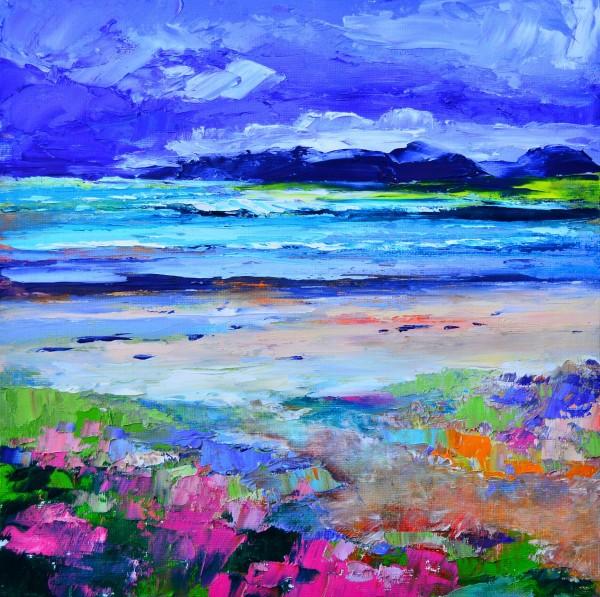Kevin Fleming_Late Summer Colours, Seilebost Beach, Harris_Oils_12x12