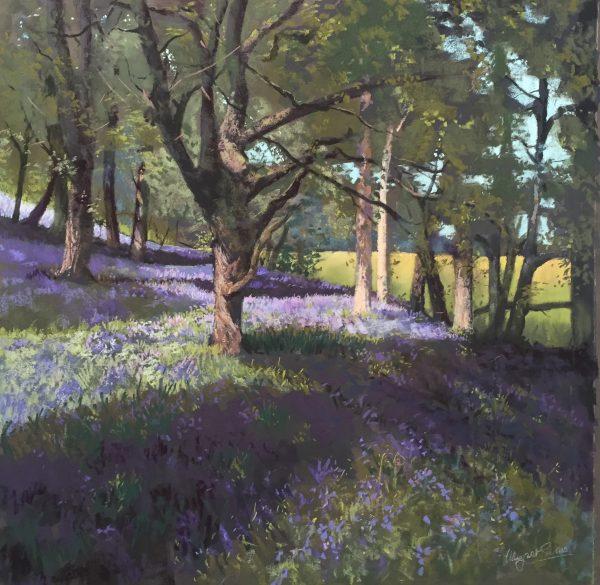 Margaret Evans_Original_Bluebell Woods_image 36x36
