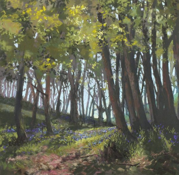 Margaret Evans_Original_Last Of The Bluebells_image 24x24