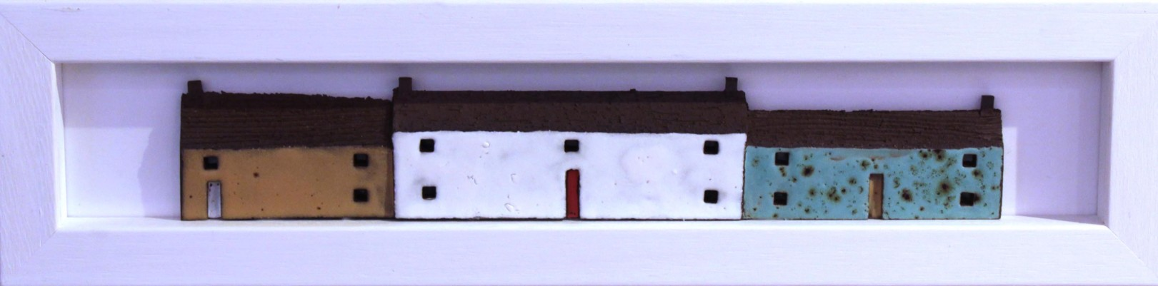 Pauline Montgomery_Original_Ceramics_Wee Houses Framed_4x16_200 (2)