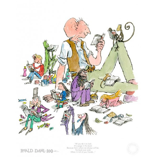 Quentin Blake, Roald Dahl_100th Anniversary Edition_Signed by Sir Quentin Blake_18x15_fmd795