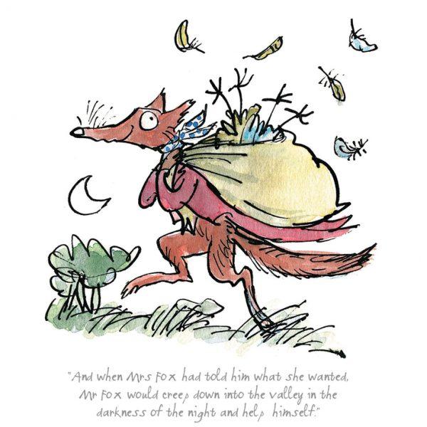 Quentin Blake, Roald Dahl_Fantastic Mr Fox_7.5x8_mtd 95