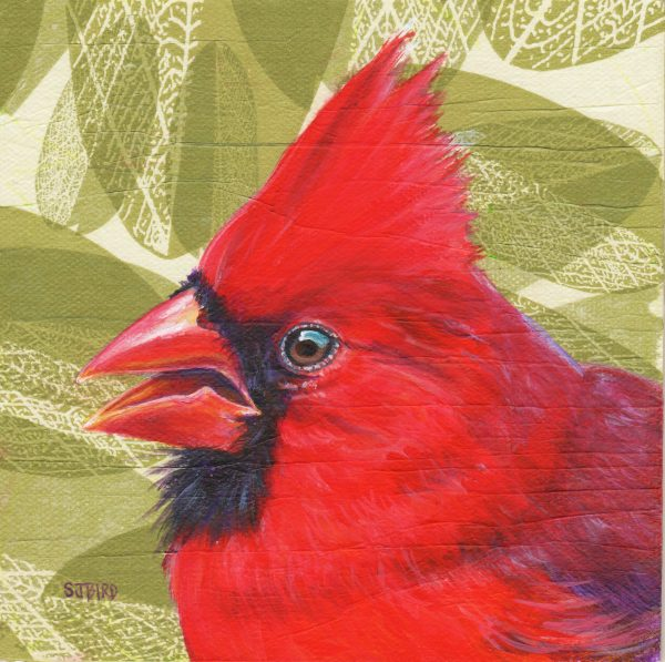 Stanley Bird_Cardinal Folly_Acrylics_6x6