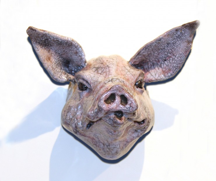 R&B Ceramics_Original Raku_Pig_160