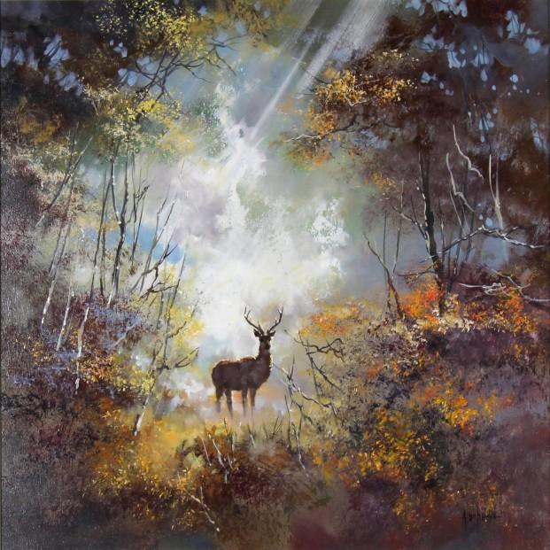Allan Morgan_Original_Forest Light_image 20x20