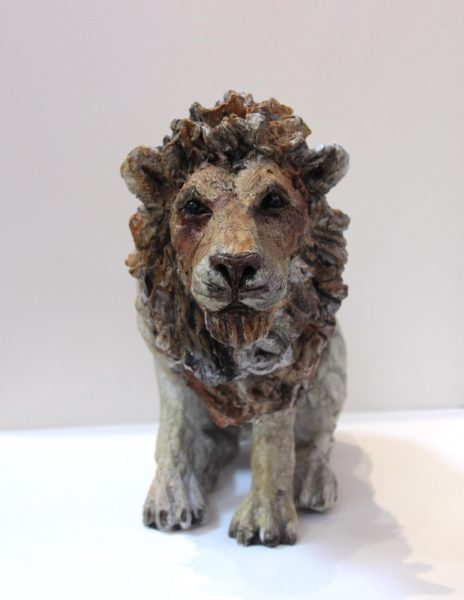 April Young_Cold Cast  Stoneware_Limited Edition of 25_ Lion_12x13 (1)