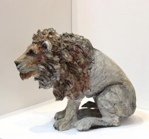 April Young_Cold Cast  Stoneware_Limited Edition of 25_ Lion_12x13 (3)