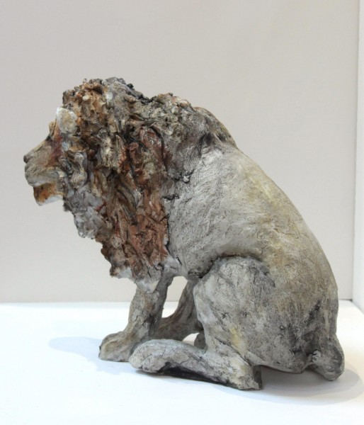 April Young_Cold Cast  Stoneware_Limited Edition of 25_ Lion_12x13 (4)