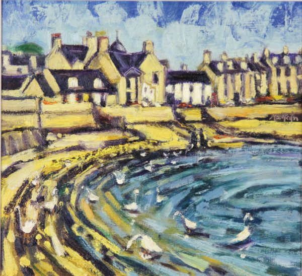 CMW_Original_Oils_Beach Crescent Broughty Ferry_ image 11.5 x 10.5