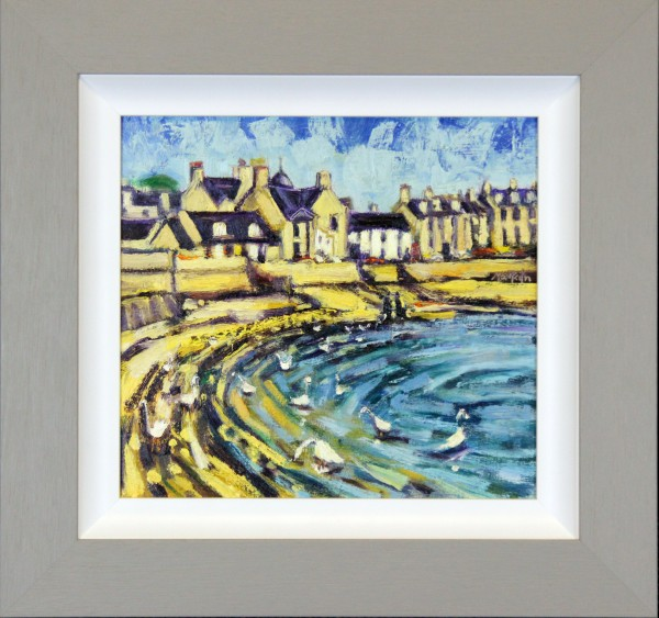 CMW_Original_Oils_Beach Crescent Broughty Ferry_ image 11.5 x 10.5_fmd 18 x 17