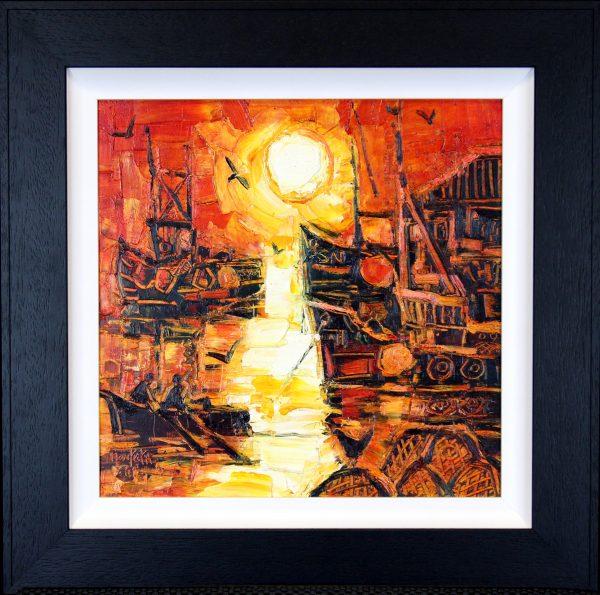 CMW_Original_Oils_Harbour Sunrise_image 14 x 14_fmd 20.5 x 20.5