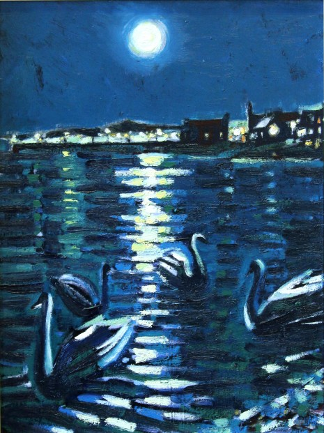 CMW_Original_Oils_Moonlight Broughty Ferry_image 13 x 17