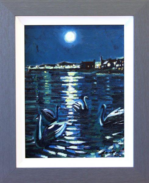 CMW_Original_Oils_Moonlight Broughty Ferry_image 13 x 17_fmd 19 x x 24